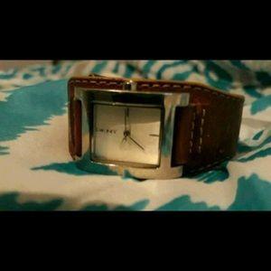 DKNY Genuine Leather Watch